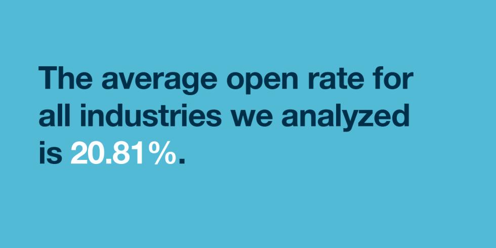 業界のメルマガ平均開封率は20.81%