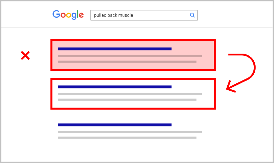Google検索のpogo stick effect