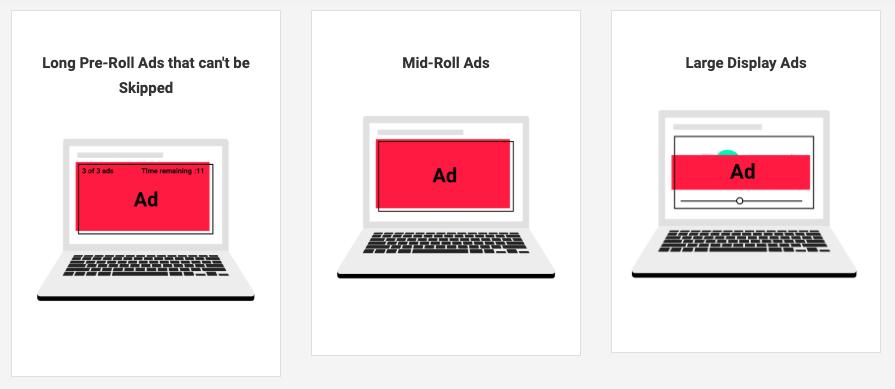 動画広告の不適切フォーマット