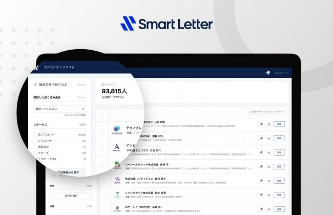 24万人の決裁者(氏名入り)が無料で検索閲覧し放題!?「Smart Letter」がフリープランをリリース!