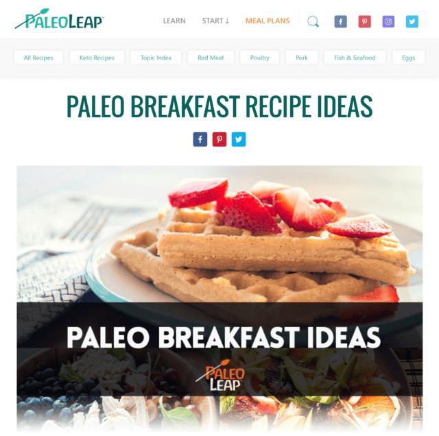PaleoLeap.comのSEO事例