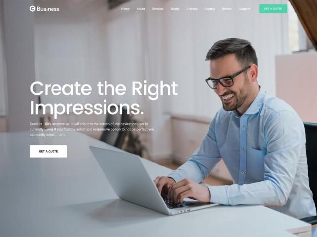 WordPressコーポレートサイトテーマ・企業サイトテーマ「Cesis」