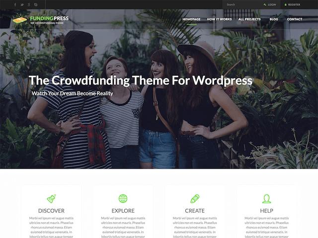 クラウドファンディングサイト用WordPressテーマ「FundingPress」