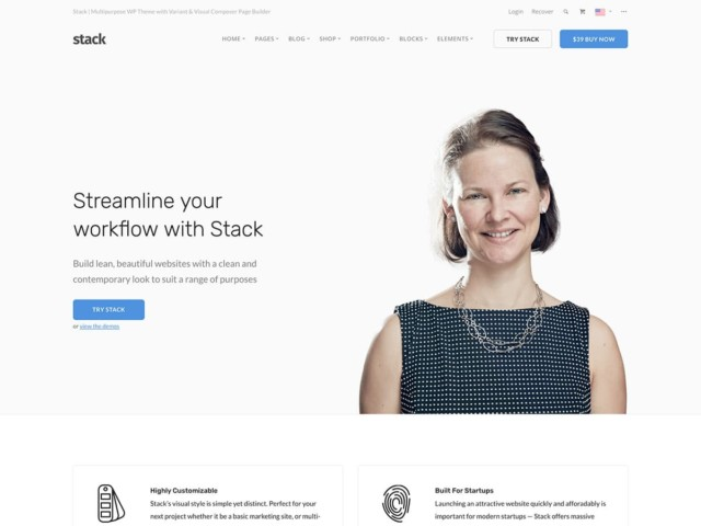 WordPressコーポレートサイトテーマ・企業サイトテーマ「Stack」
