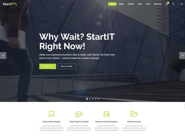 WordPressコーポレートサイトテーマ・企業サイトテーマ「StartIT」