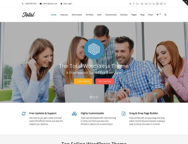 WordPressコーポレートサイトテーマ・企業サイトテーマ「Total」