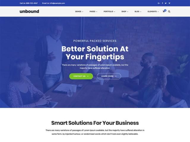 WordPressコーポレートサイトテーマ・企業サイトテーマ「Unbound」