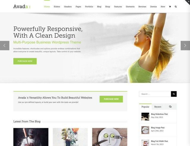 WordPressコーポレートサイトテーマ・企業サイトテーマ「Avada」