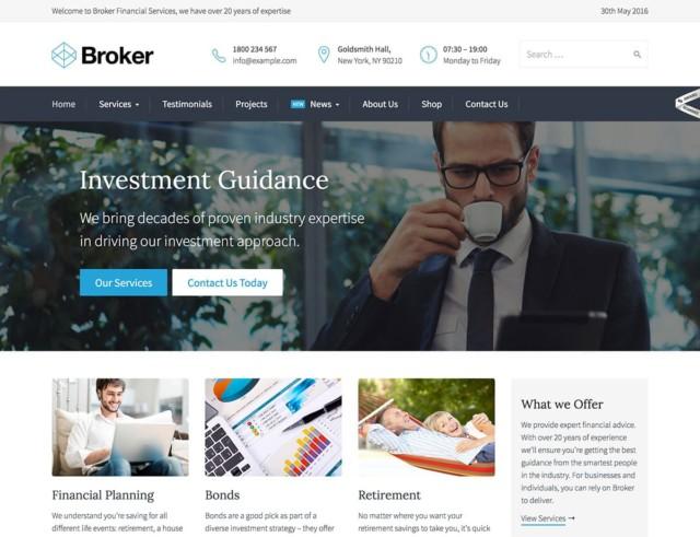 WordPressコーポレートサイトテーマ・企業サイトテーマ「Broker」