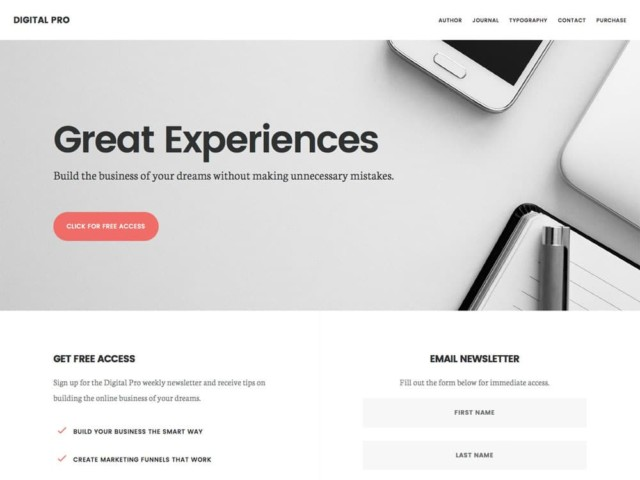 WordPressコーポレートサイトテーマ・企業サイトテーマ「Digital Pro」