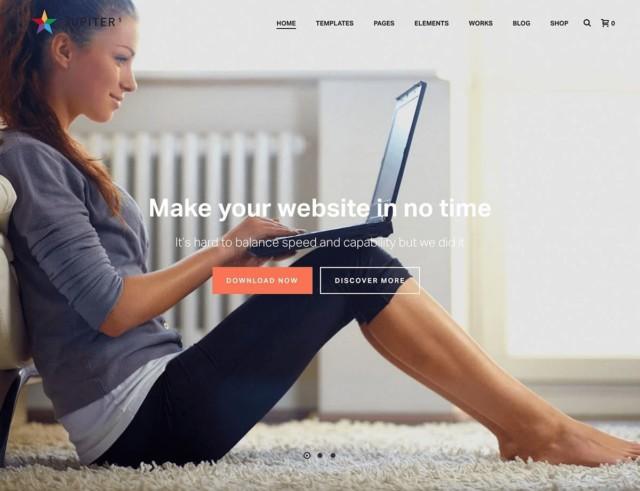 WordPressコーポレートサイトテーマ・企業サイトテーマ「Jupiter」