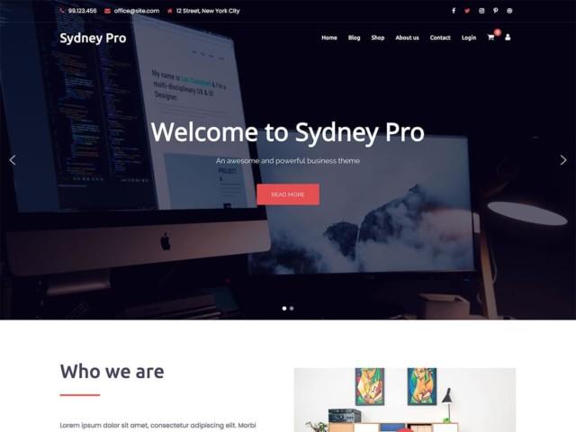 WordPressコーポレートサイトテーマ・企業サイトテーマ「Sydney Pro」