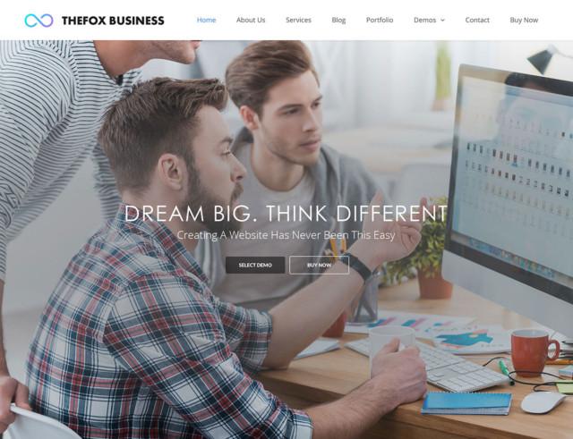 WordPressコーポレートサイトテーマ・企業サイトテーマ「TheFox」