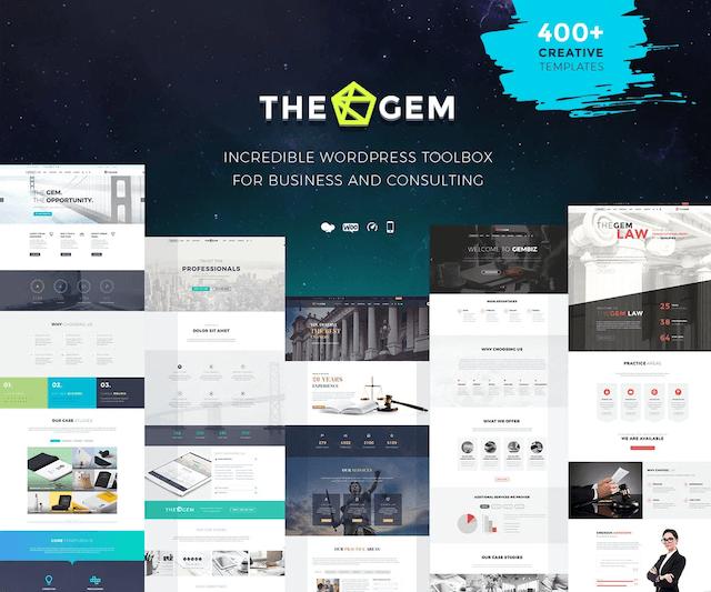 WordPressコーポレートサイトテーマ・企業サイトテーマ「TheGem」