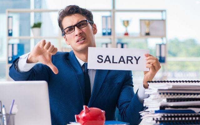 給料が低い