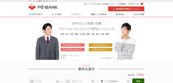 PE-BANKとは|フリーランスエンジニア専門エージェント