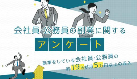 副業をしている会社員の約19%が月5万円以上の収入【SheepDog調査】