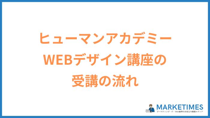 ヒューマンアカデミー WEBデザイン講座の受講の流れ