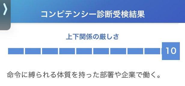 ミイダスのコンピテンシー診断の結果例一部【評判・口コミ】